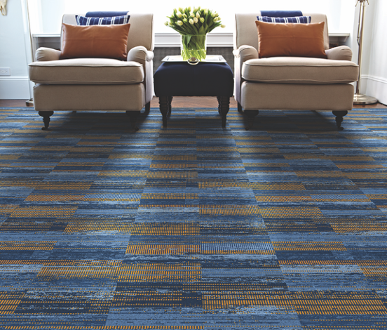 Blue Tan Carpet Tiles Ideas Basement Example